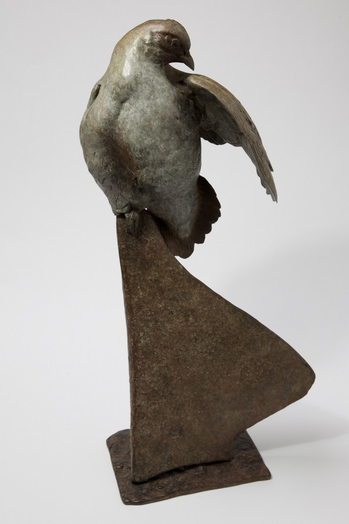 Grey Partridge on Plough Sculpture