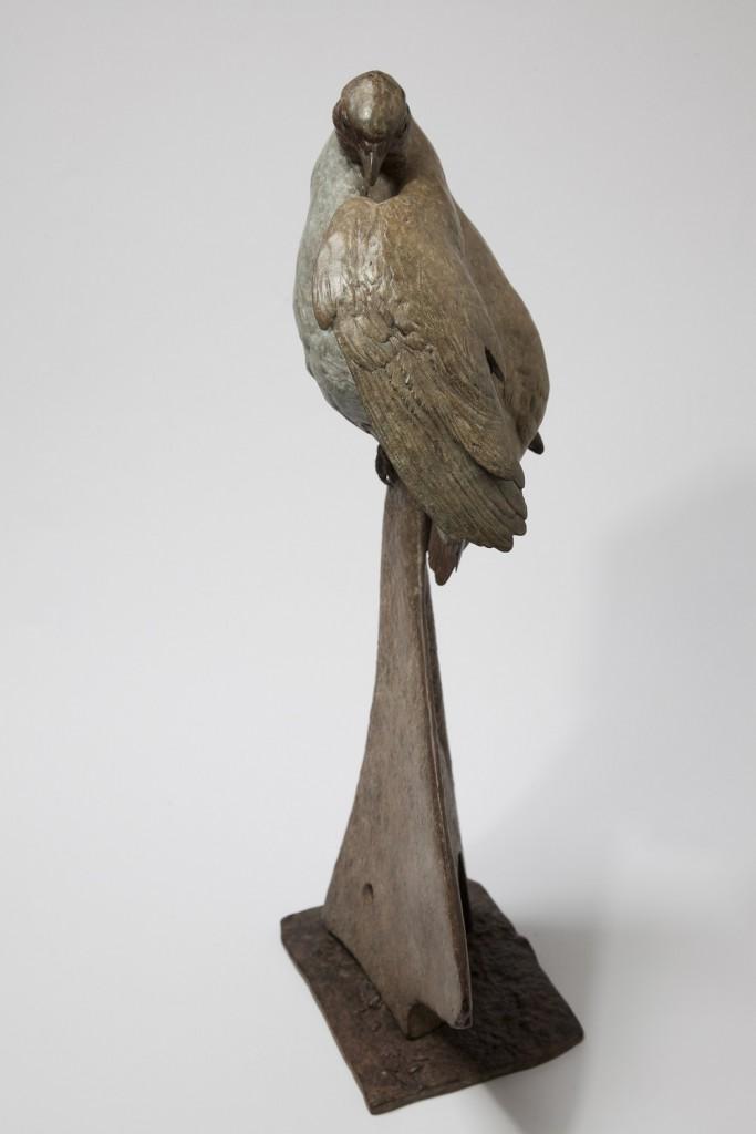 Grey Partridge on Plough Sculpture